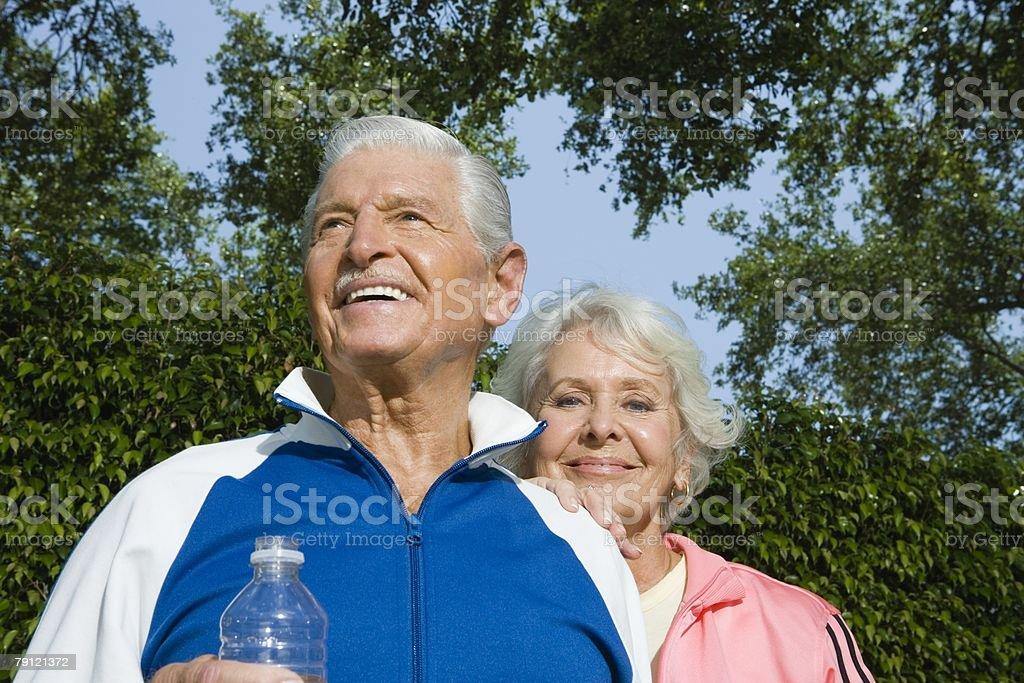 Healthy seniors stock photo