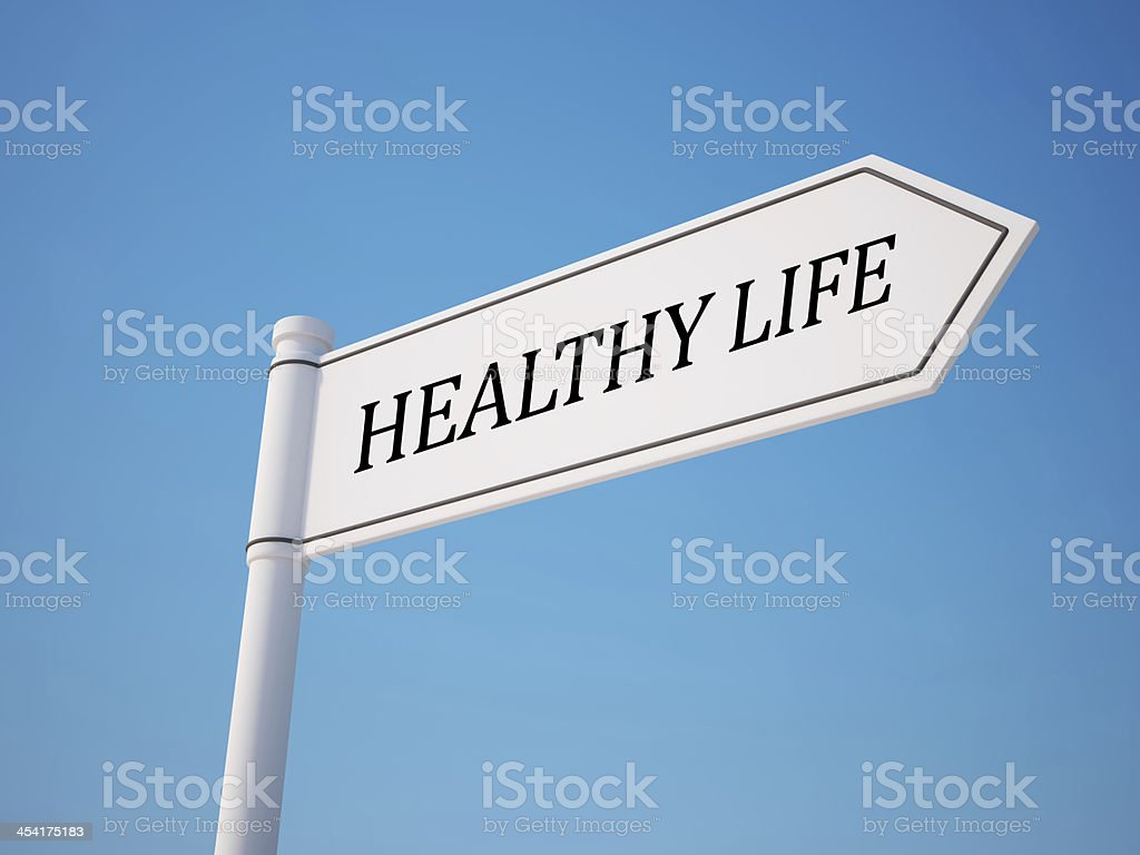Healthy Signpost with Clipping Path royalty-free stock photo