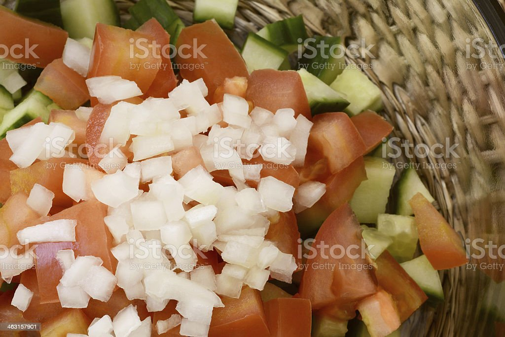 Healthy simple salad close up royalty-free stock photo