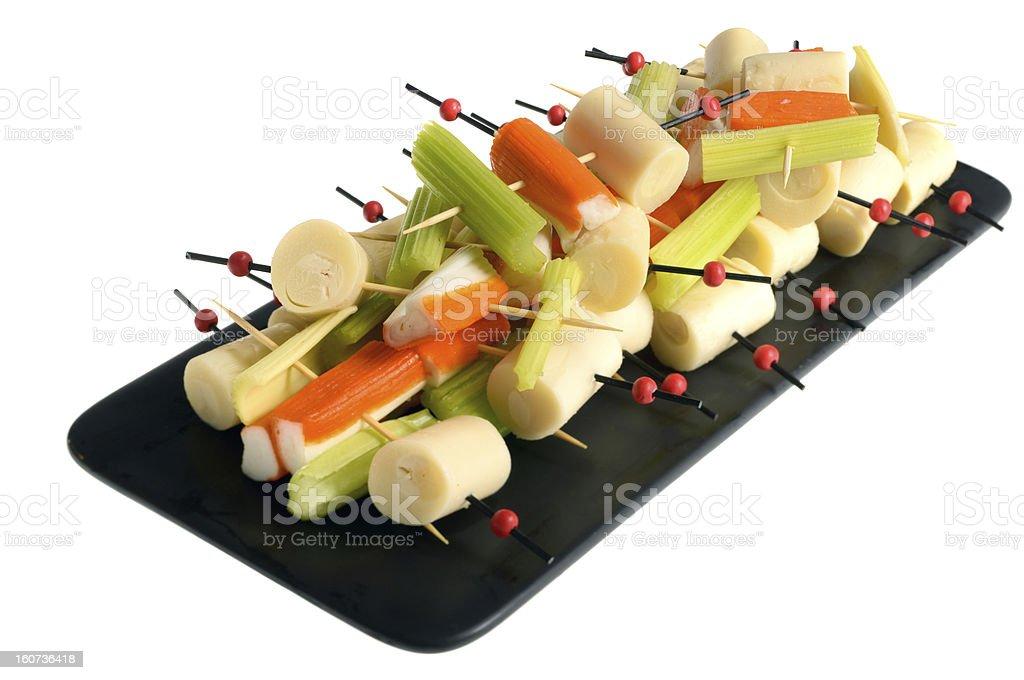 Healthy skewers stock photo