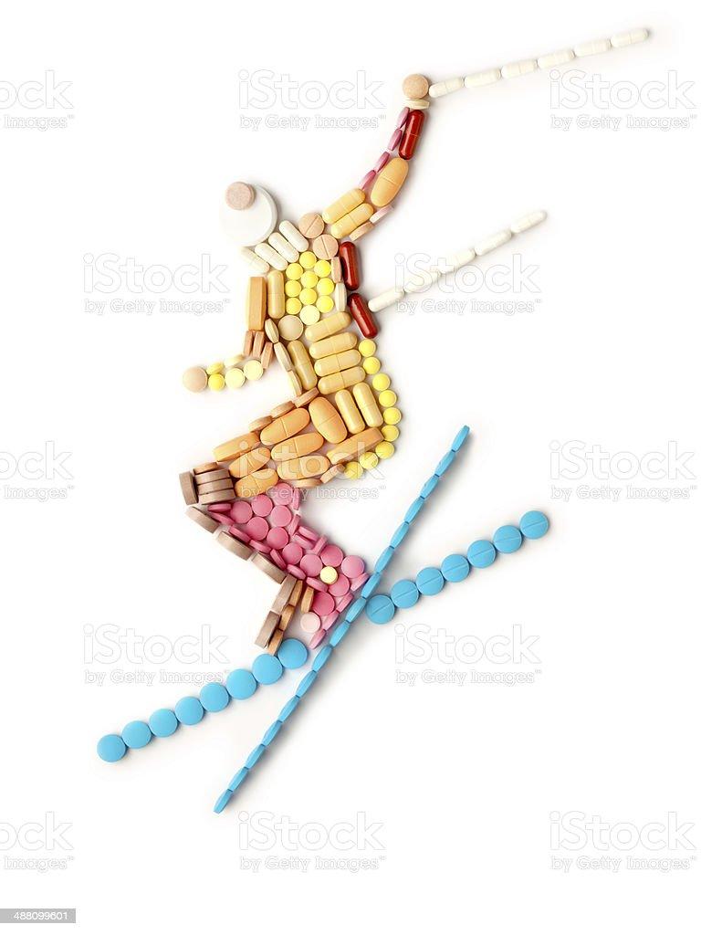 Healthy skiing. stock photo