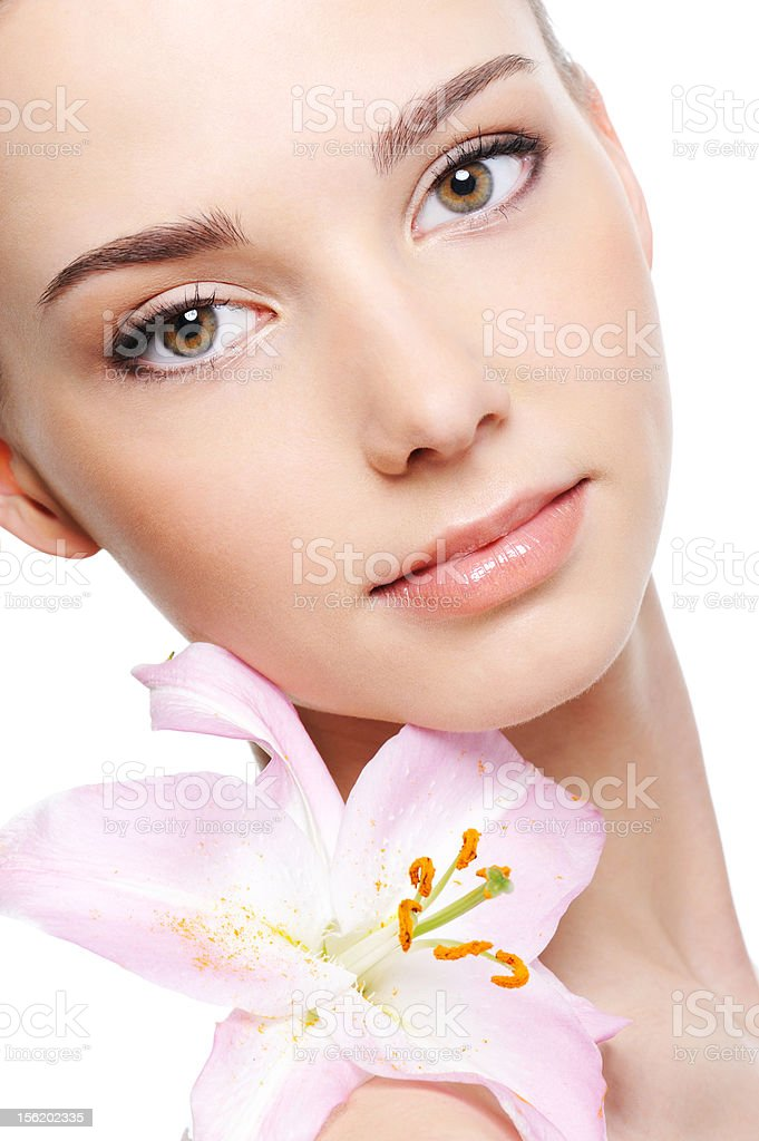 Healthy skin of  face stock photo