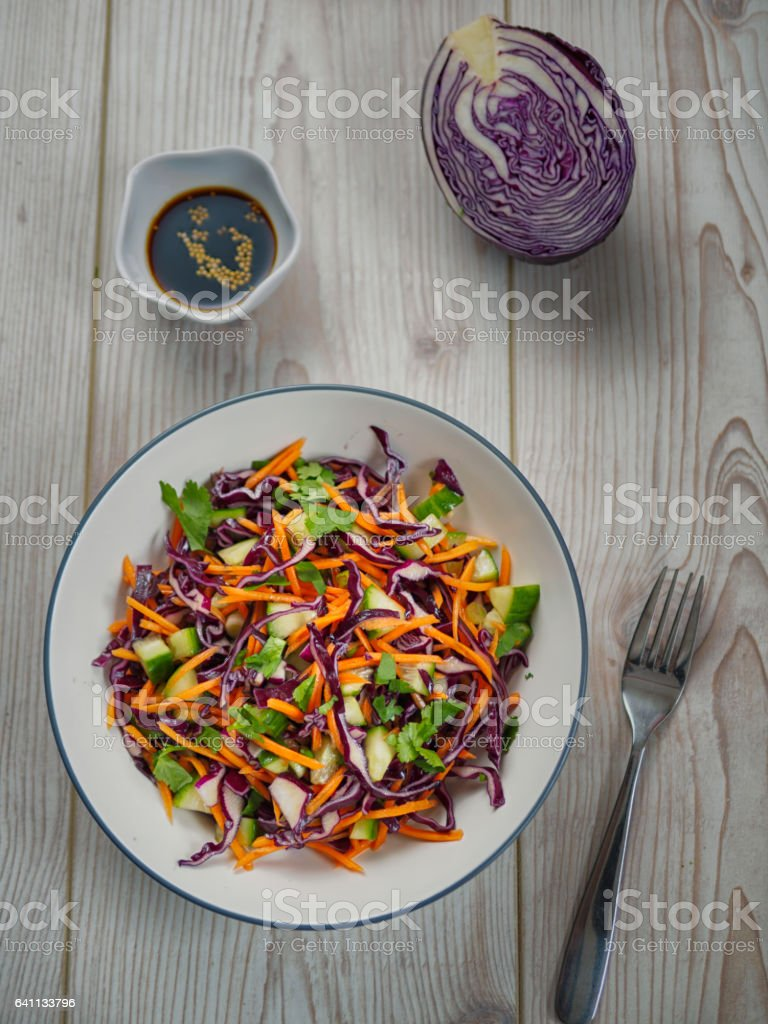 Healthy slaw stock photo