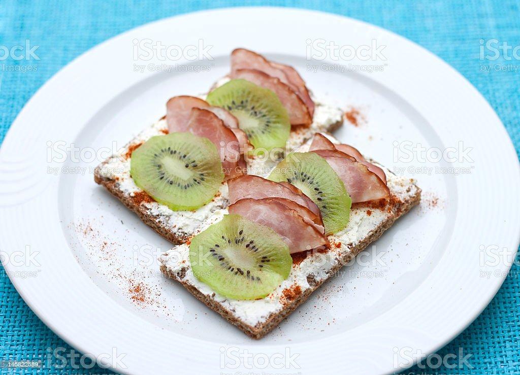 healthy snack with kiwi royalty-free stock photo