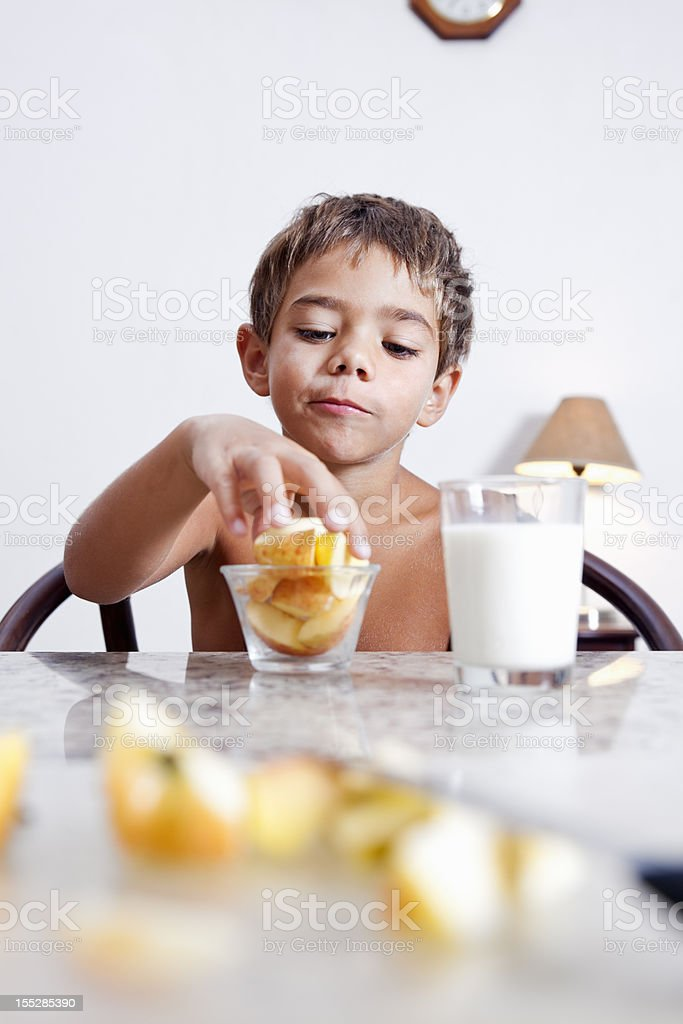 Healthy snacks are good royalty-free stock photo