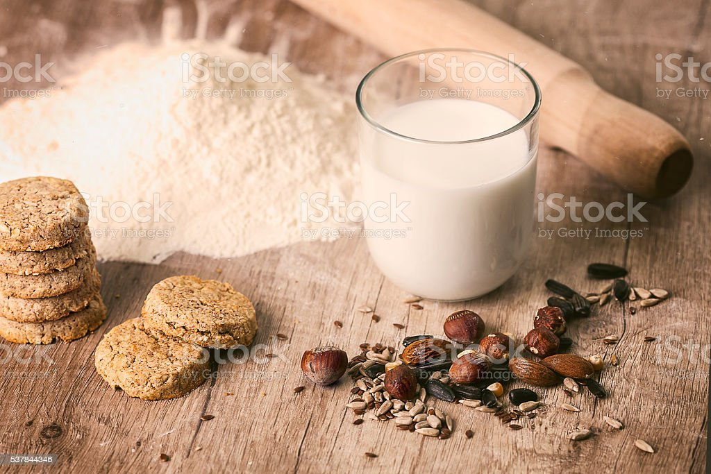 Healthy snacks stock photo