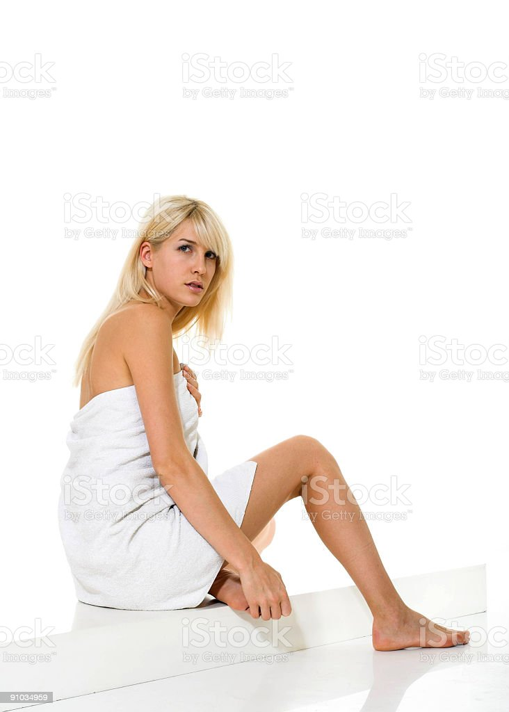 Healthy spa woman royalty-free stock photo