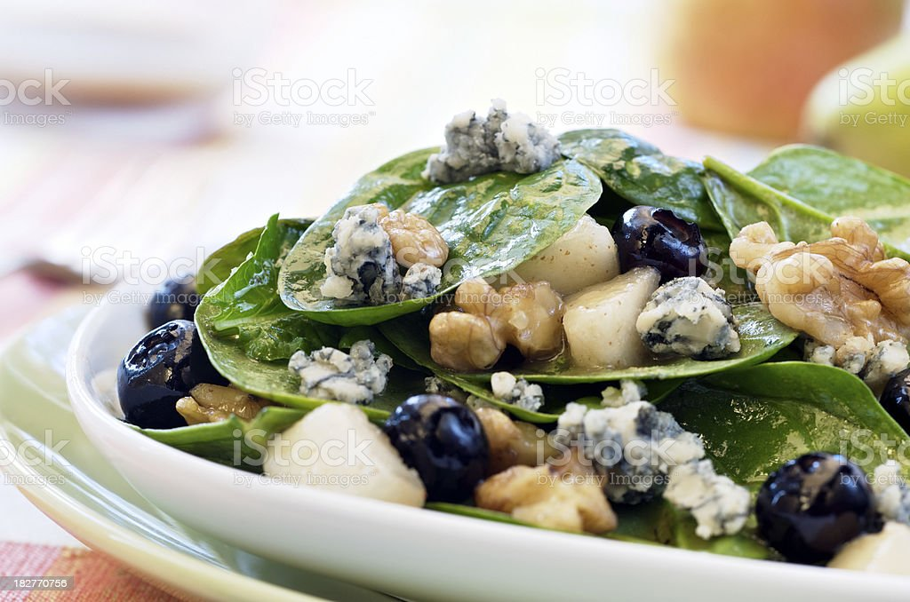Healthy Spinach Salad royalty-free stock photo