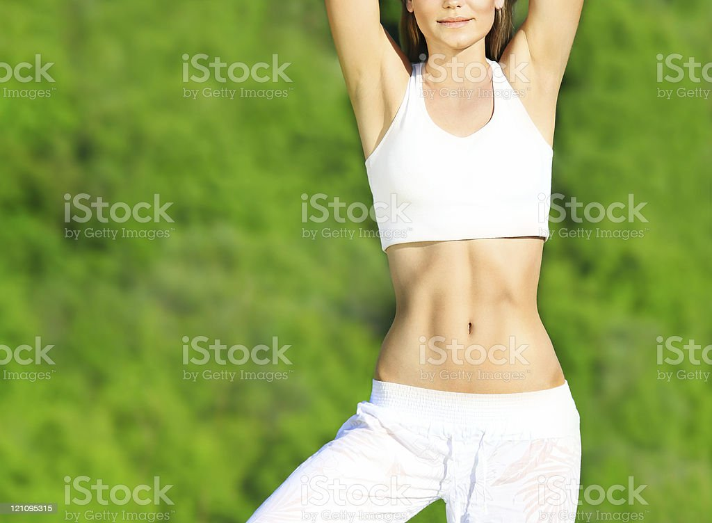 Healthy sport female body royalty-free stock photo