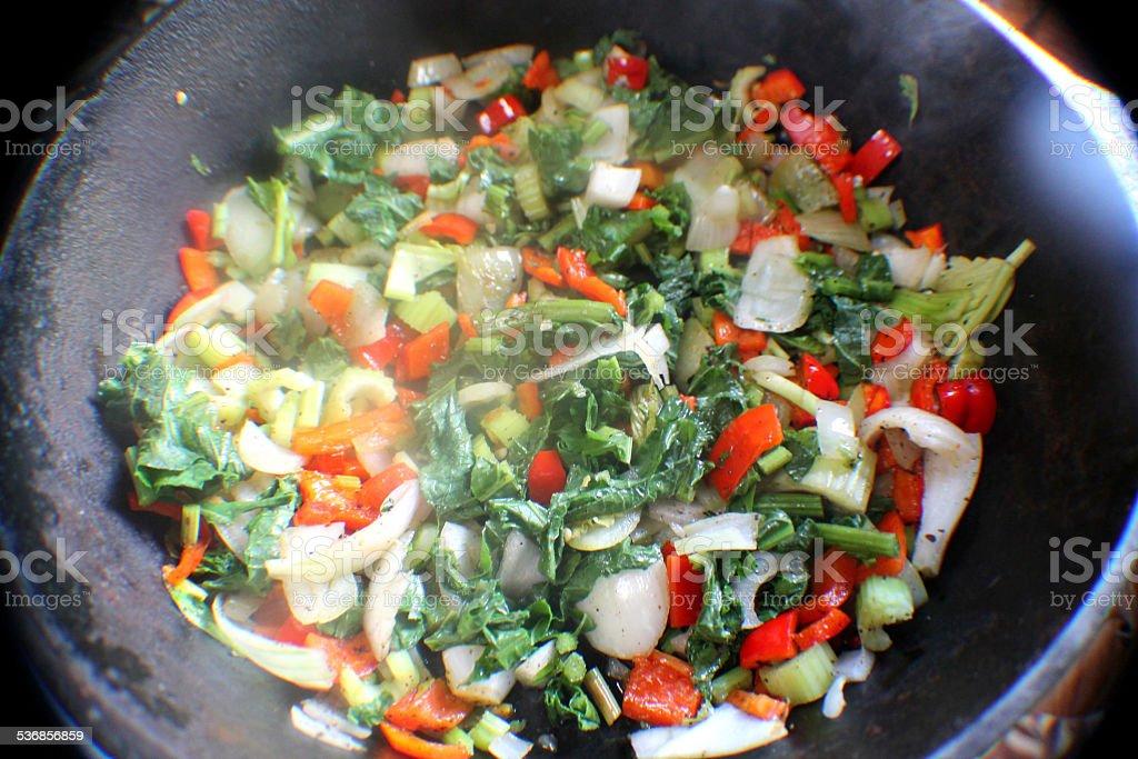 healthy stir fry stock photo