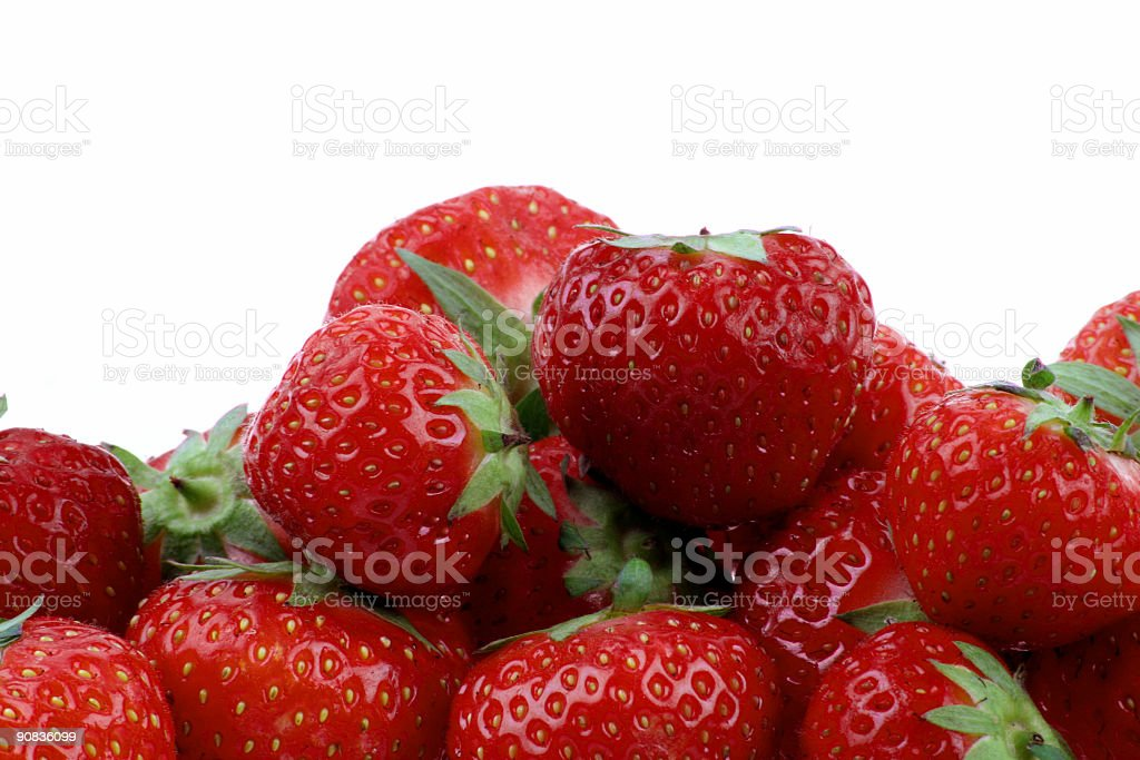 Healthy strawberries royalty-free stock photo