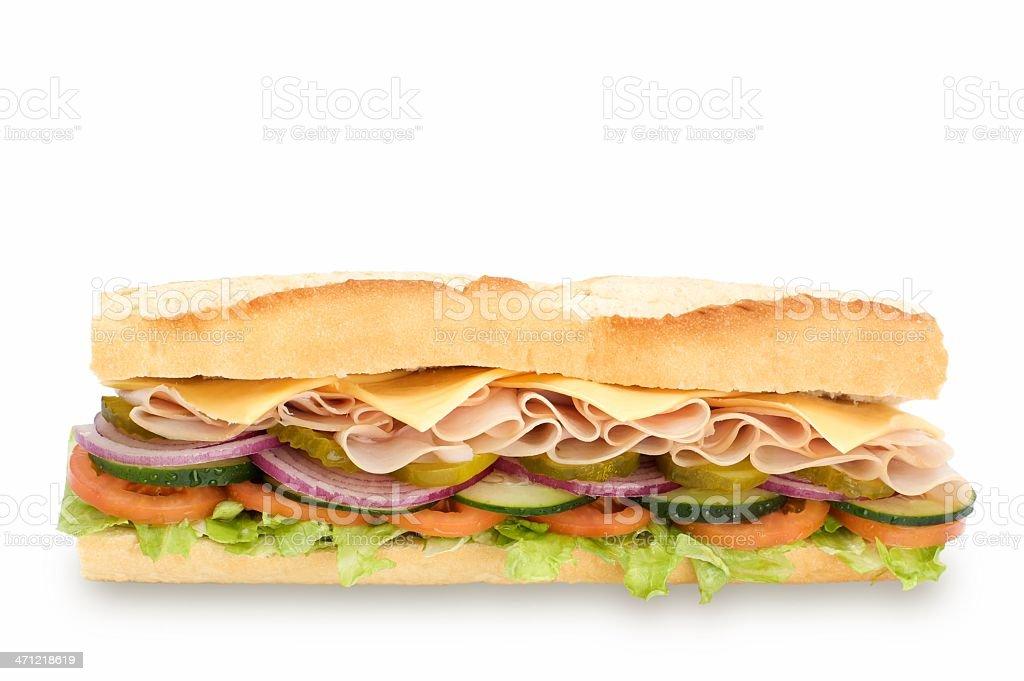 Healthy sub sandwich stock photo