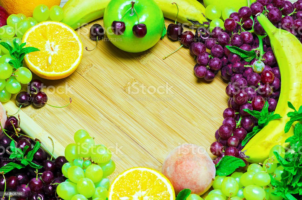 Healthy summer fruit variety. stock photo