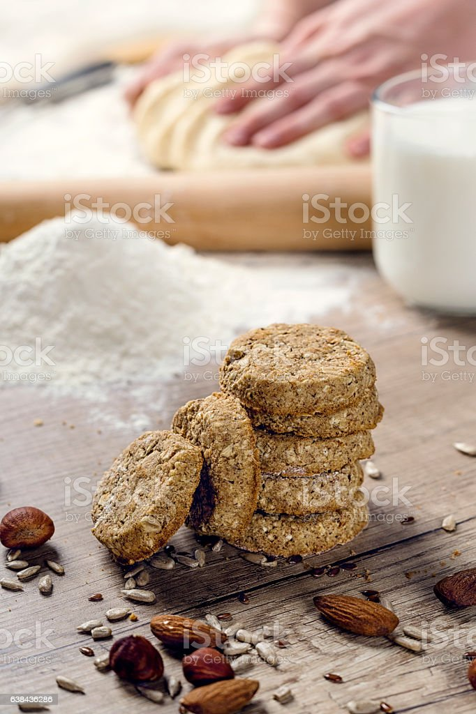 Healthy sweet cookies stock photo