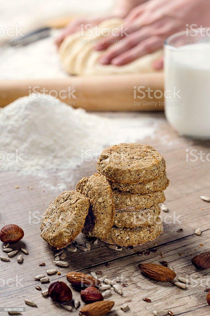 Healthy sweet cookies stock photo