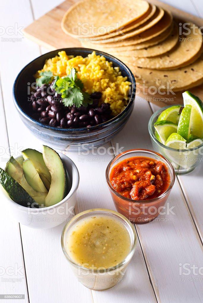 Healthy Tacos stock photo
