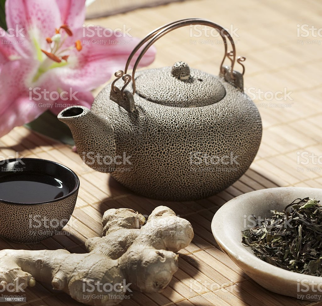 healthy tea for relaxing time stock photo