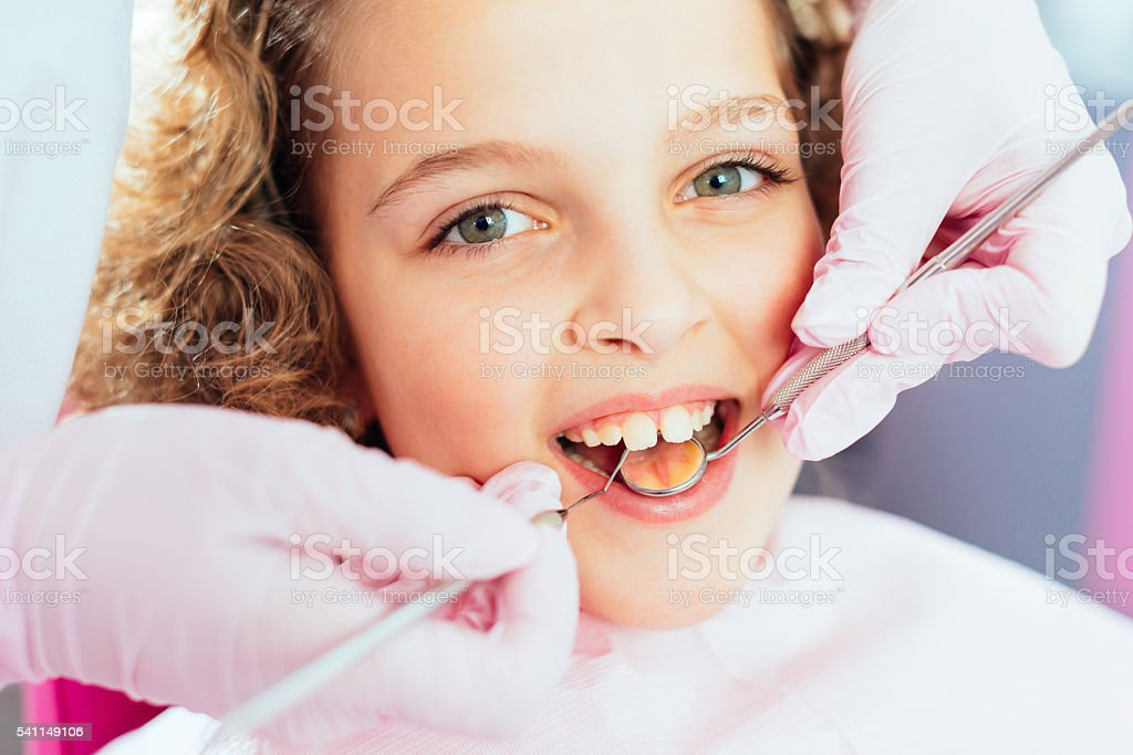 Healthy teeth and beautiful smile stock photo