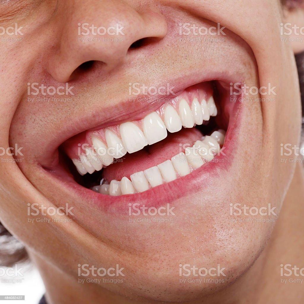 Healthy teeth closeup stock photo