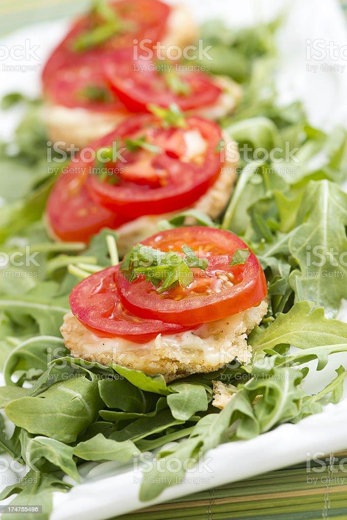 Healthy Tomato Appetizer royalty-free stock photo