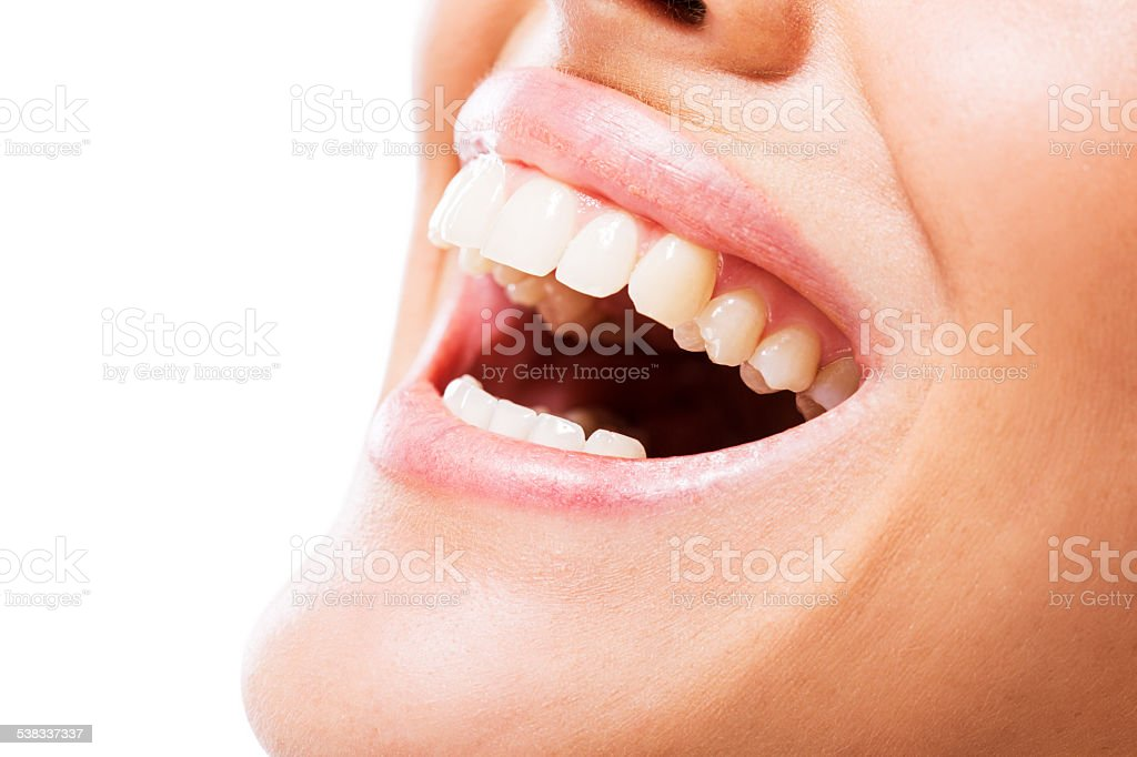 Healthy toothy smile. stock photo