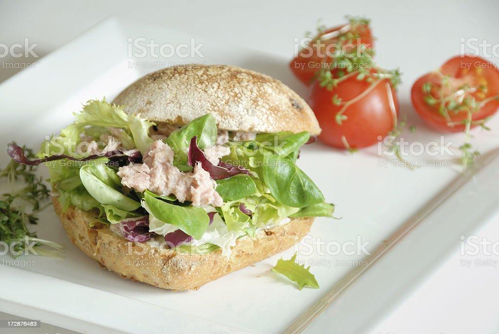 healthy tuna sandwhich royalty-free stock photo
