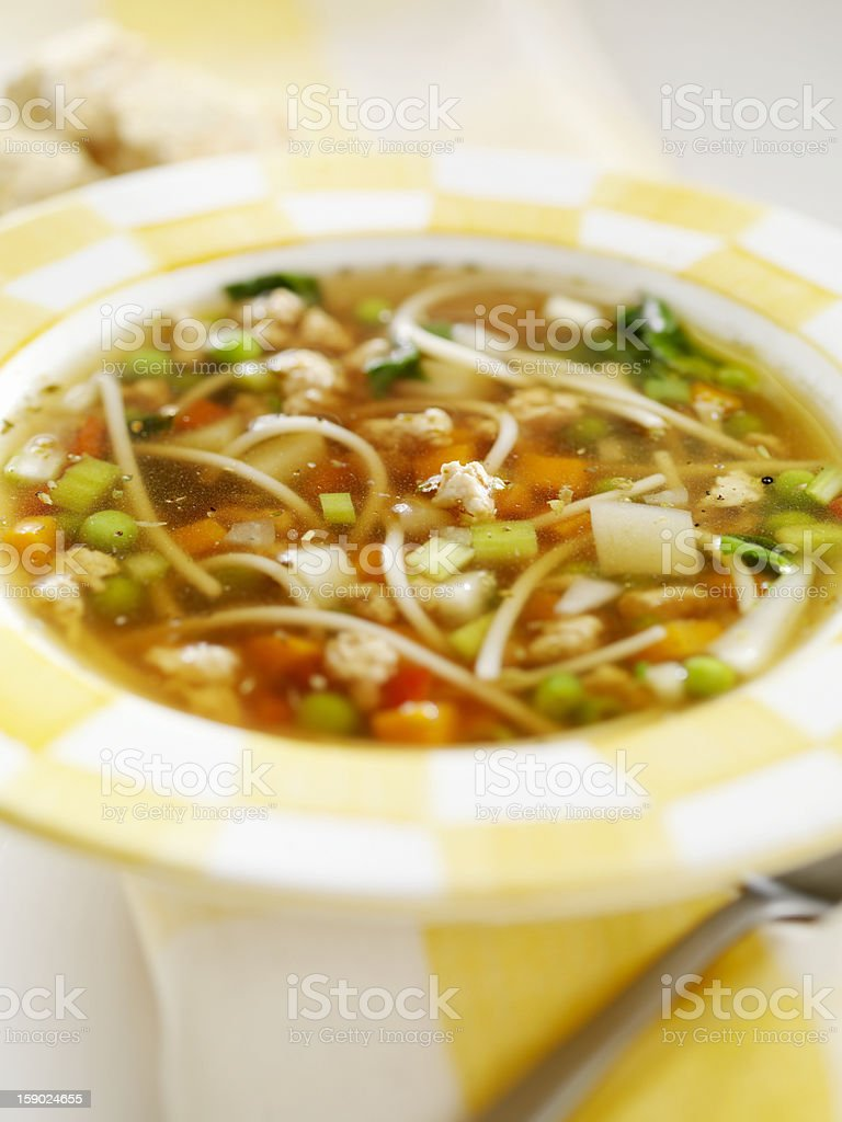 Healthy Turkey Noodle Soup royalty-free stock photo