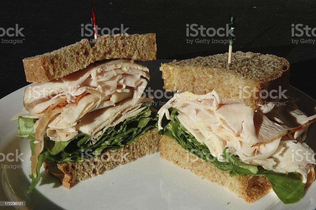 healthy turkey sandwich royalty-free stock photo