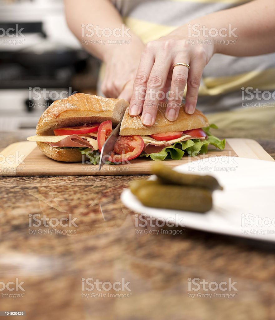 Healthy, Typical Lunch Foods, Real Kitchen stock photo