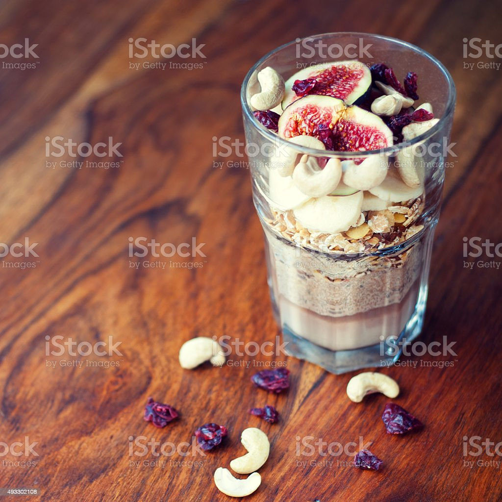 Healthy vegan breakfast stock photo