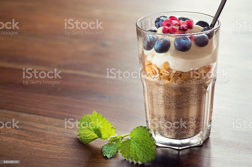 Healthy vegan breakfast stock photo