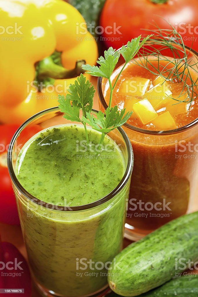 Healthy vegetable drink royalty-free stock photo