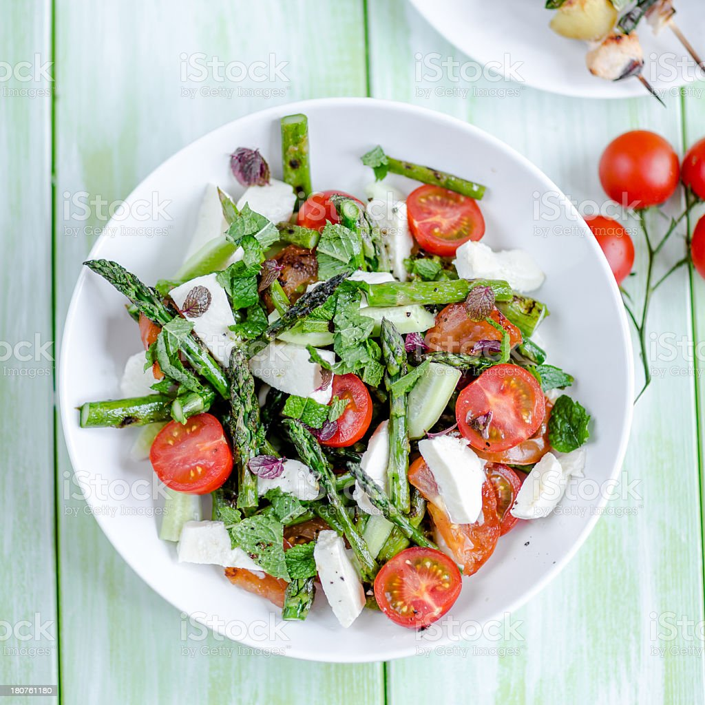 A healthy vegetable salad for lunch stock photo