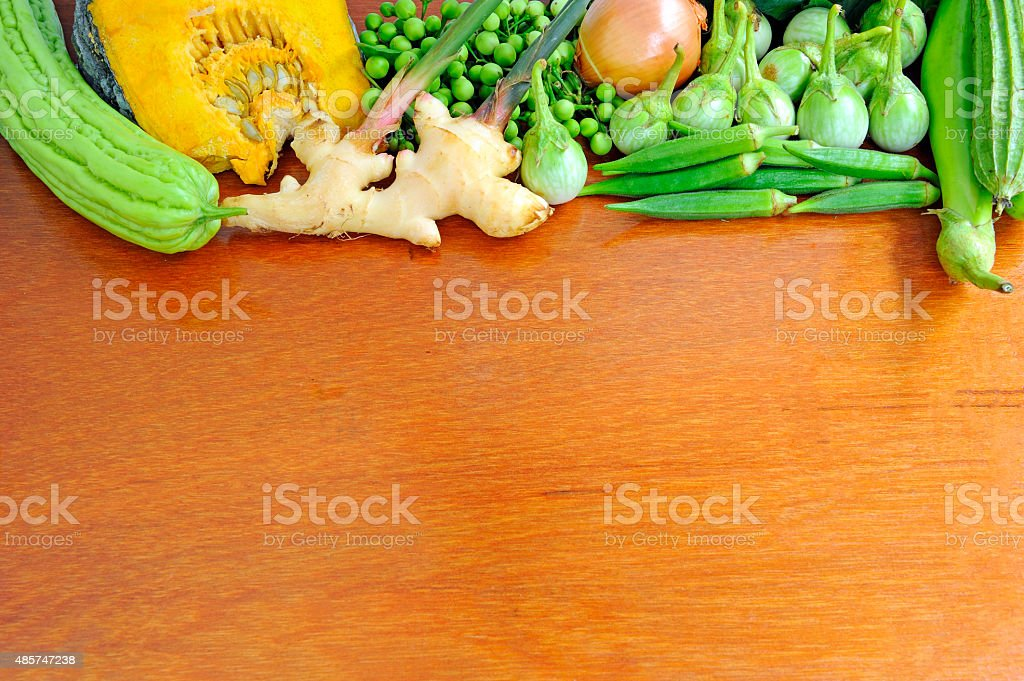 Healthy vegetables background stock photo