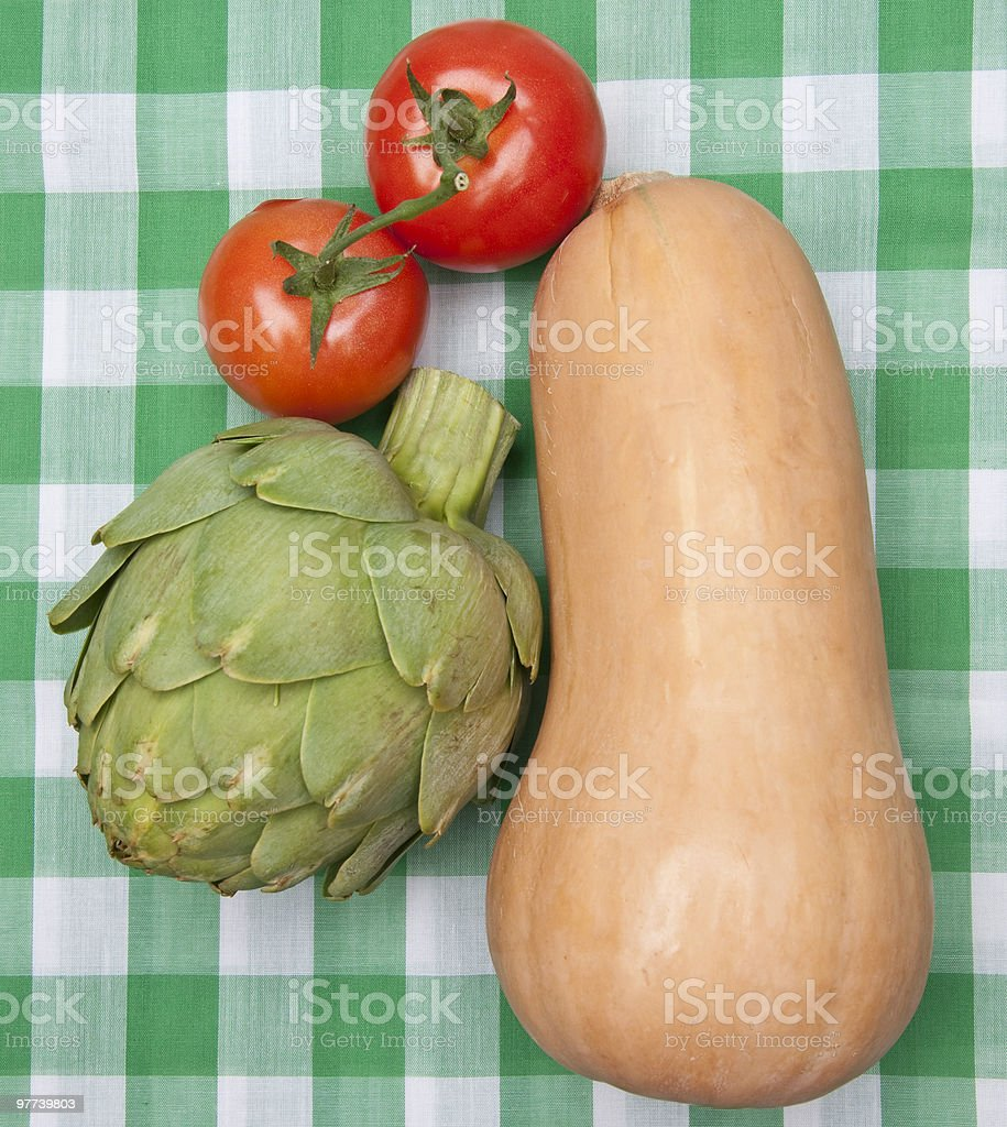Healthy Vegetables on a Picnic Blanket royalty-free stock photo
