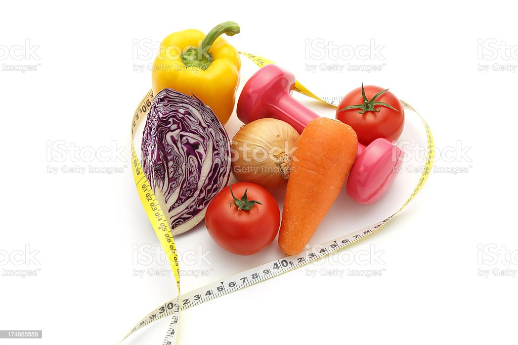 Healthy Vegetables(Dieting Concept) stock photo