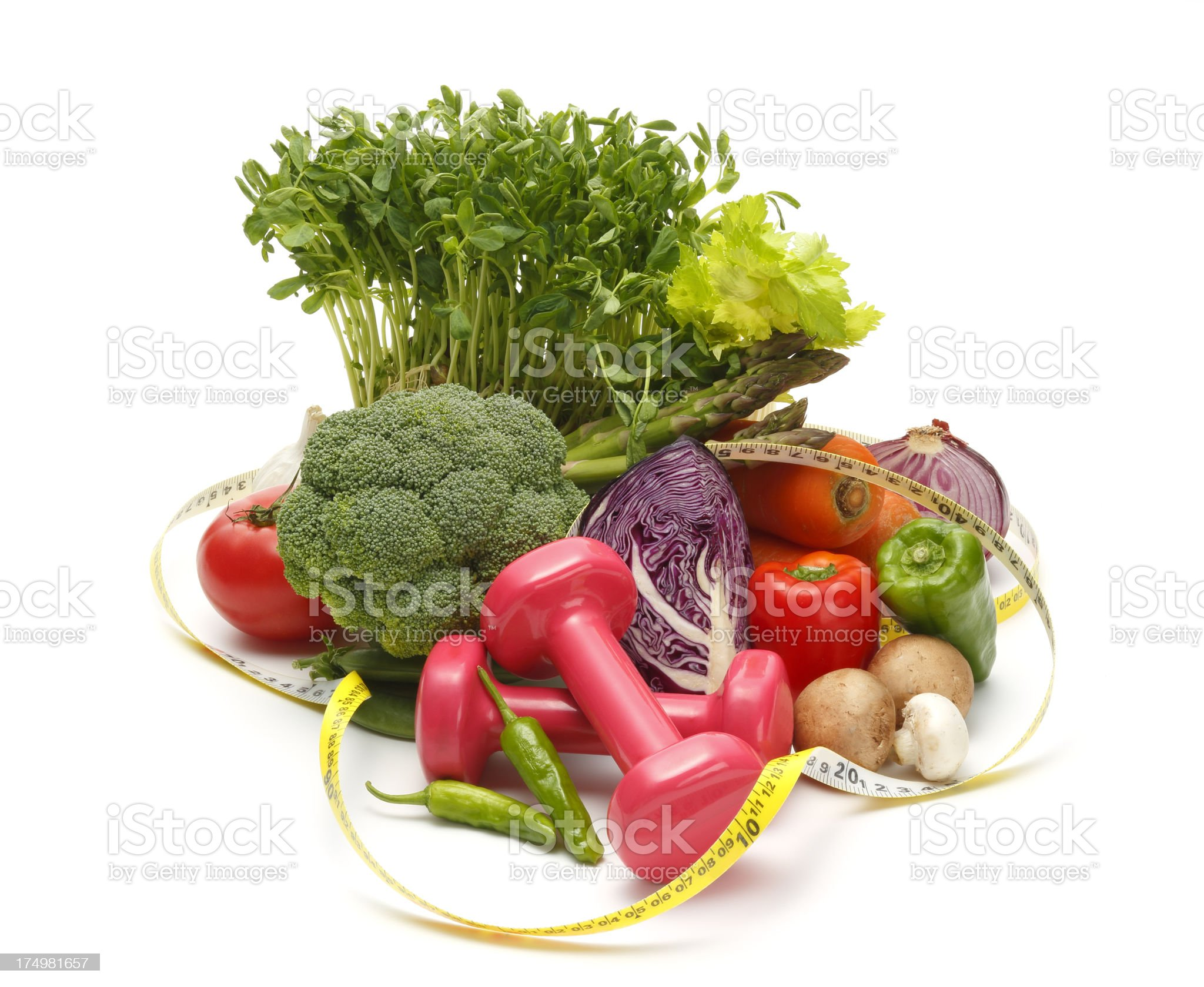 Healthy Vegetables(Dieting Concept) royalty-free stock photo