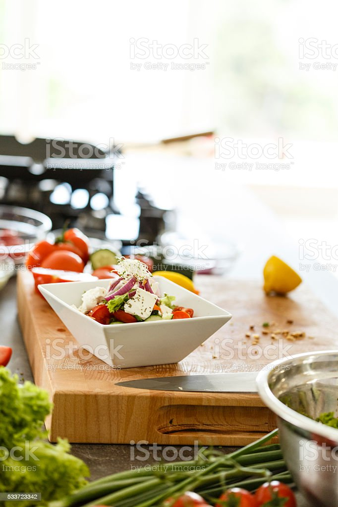 Healthy vegetables salad stock photo