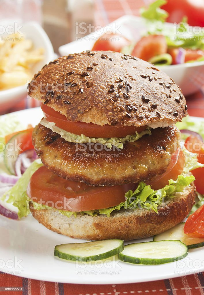 Healthy vegetarian burger royalty-free stock photo