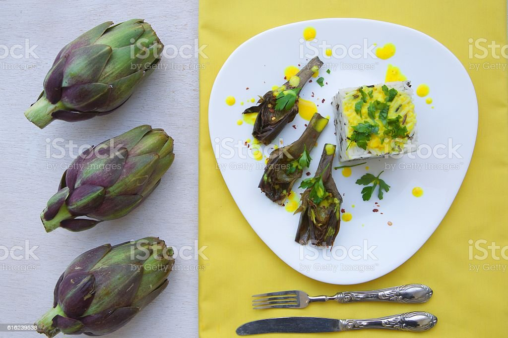 Healthy vegetarian lunch stock photo