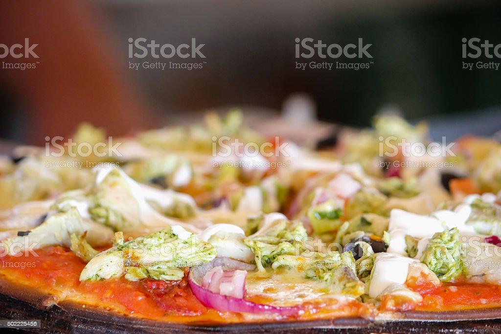 Healthy vegetarian pizza stock photo