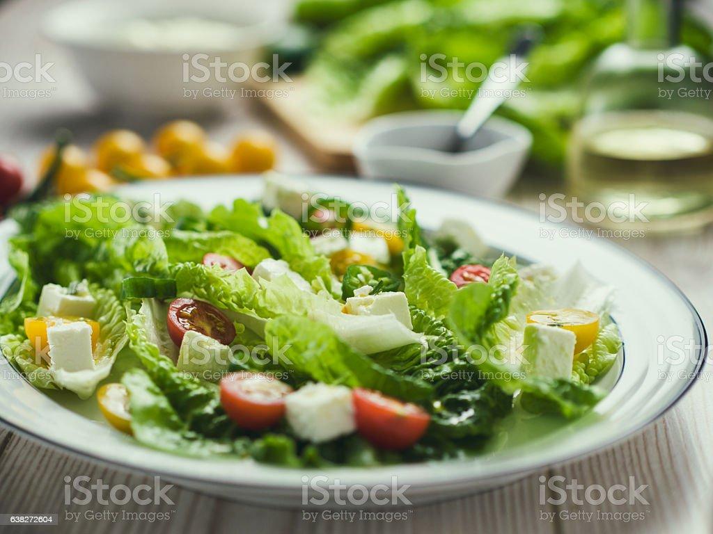 Healthy vegetarian Salad stock photo