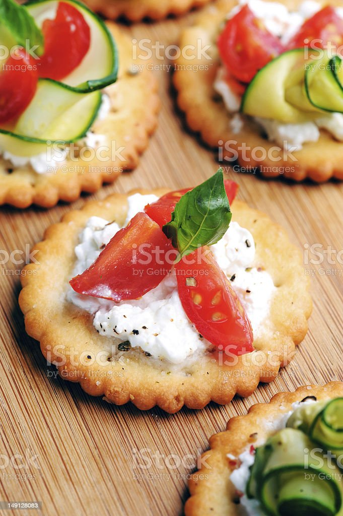 Healthy vegetarian snack royalty-free stock photo