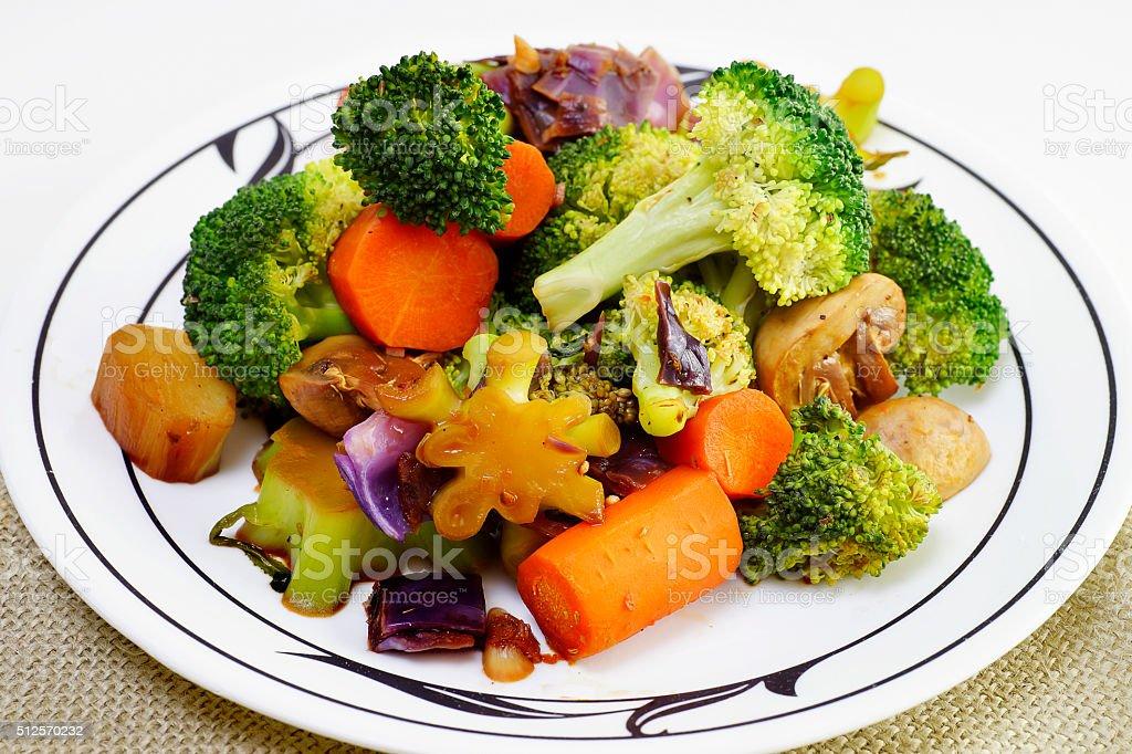 Healthy Vegetarian Stir Fry stock photo
