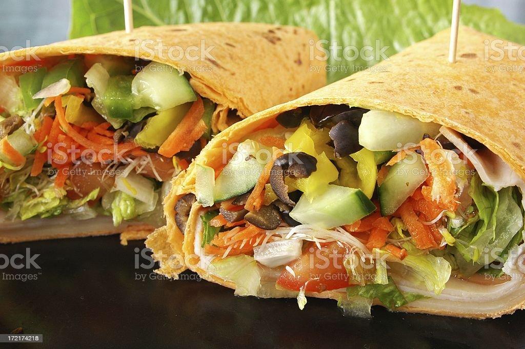 Healthy veggie wrap royalty-free stock photo