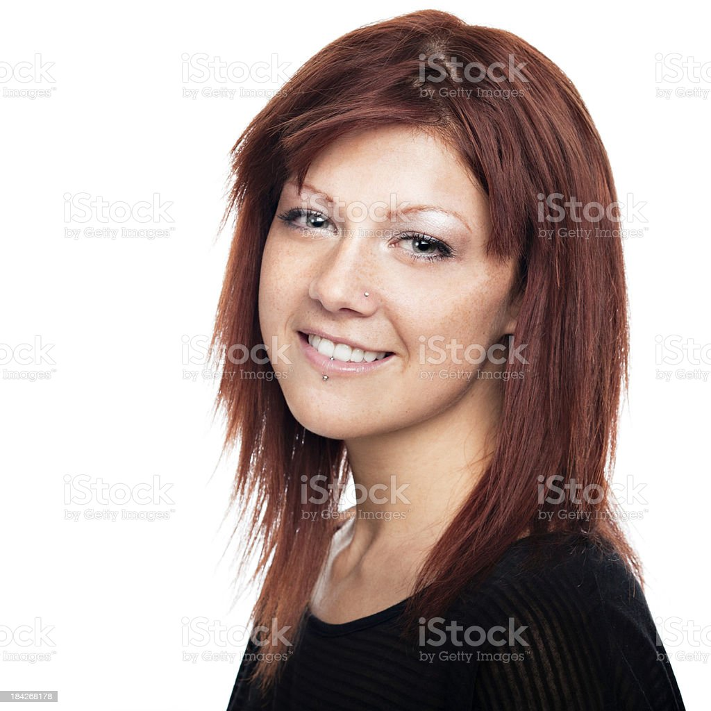 Healthy vibrant redhead woman royalty-free stock photo