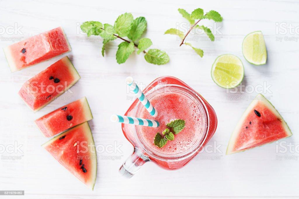 Healthy watermelon drink stock photo