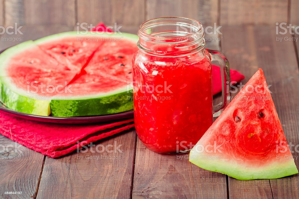 Healthy watermelon smoothie stock photo