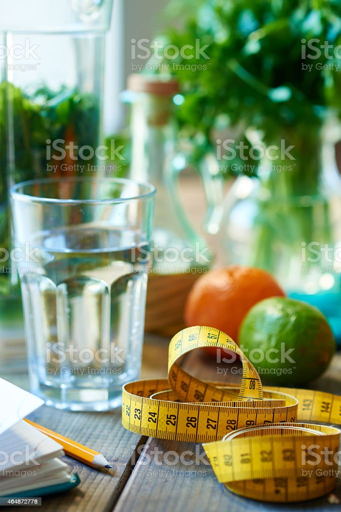 Healthy weight loss stock photo