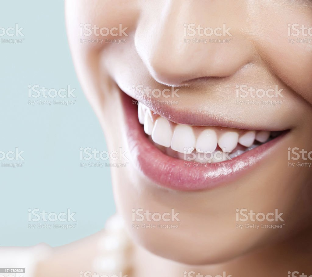 Healthy White Smile stock photo